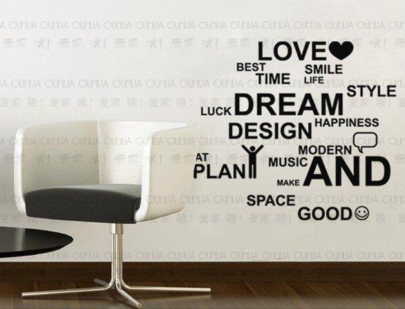 Sticker Paper Wall Decor Aliexpress Words Diy Decal