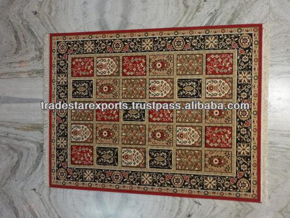 Woolen Area Rug India Beautiful Carpet