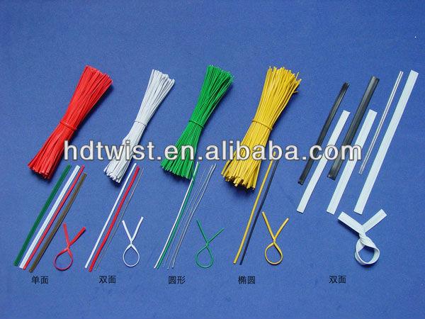 Food Packaging Single Wire Plastic Twist Ties