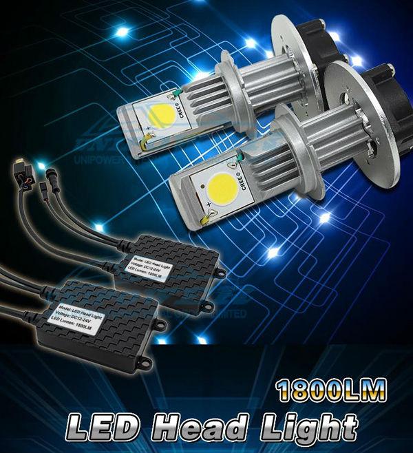 50w Cree Chip 3600lumen H7 Led Head Lamp