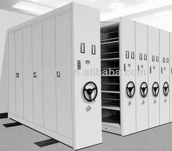High Density Compactor Mobile Bookcase Space Utilization
