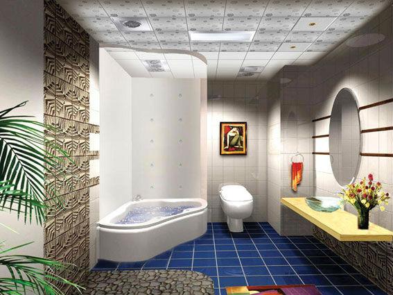 Trendy Moisure Proof Plastic Bathroom Pvc Ceiling Panels Interior Wall Pvc  Paneling The Latest Design