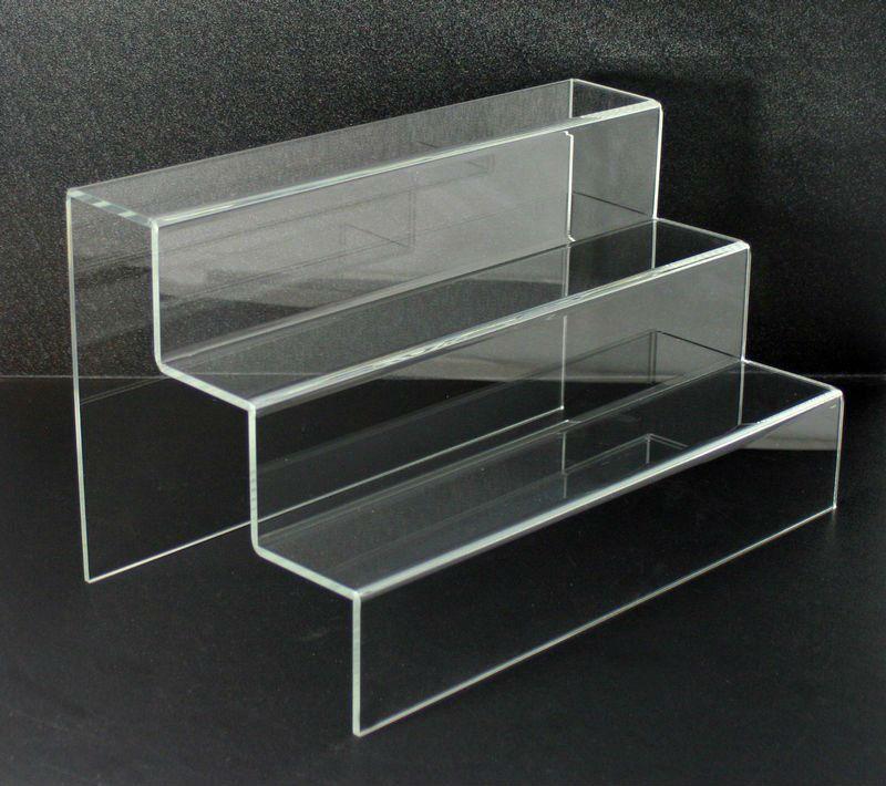 Three Tier Clear Acrylic Stair Step Display Buy Acrylic