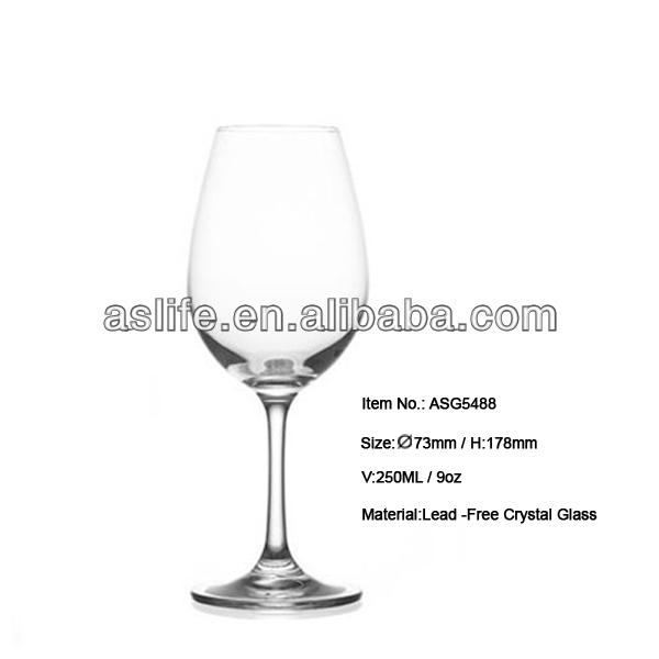 promotion sans plomb vin verres d gustation 250 ml sans plomb cristal verre vin en gros. Black Bedroom Furniture Sets. Home Design Ideas