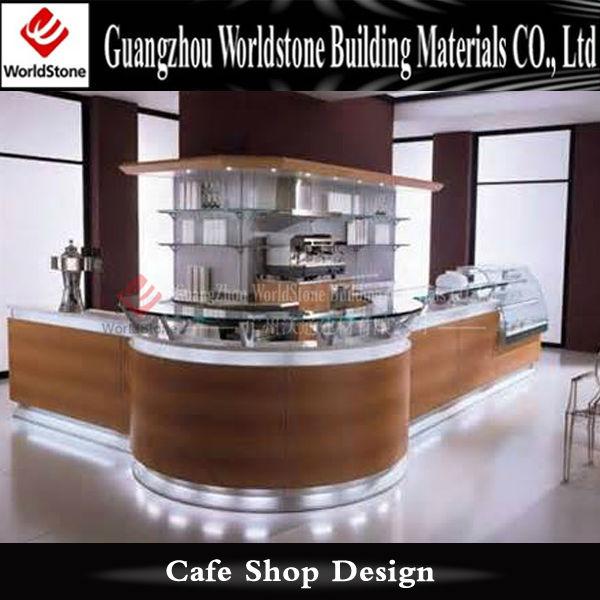 Portable Coffee Bar Counter Coffee Shop Cash Counter Design