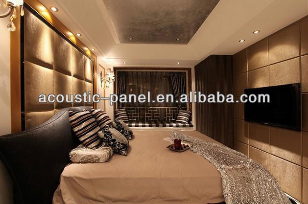 Recording Studio/home Theater/ Modular Interior Decorative Leather Covered  Interior Decorative Acoustical Wall Panel
