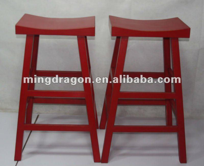 Cinese di legno antico sgabello da bar rosso buy barcellona