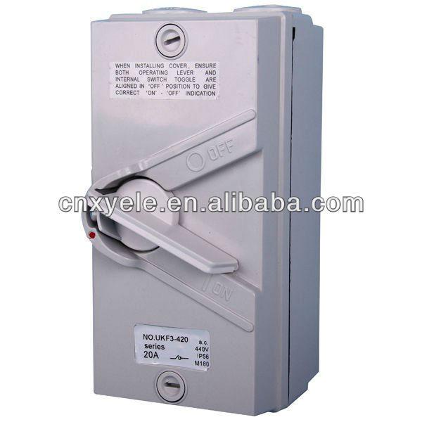 Single Phase Switches : New single phase isolator switch outdoor buy