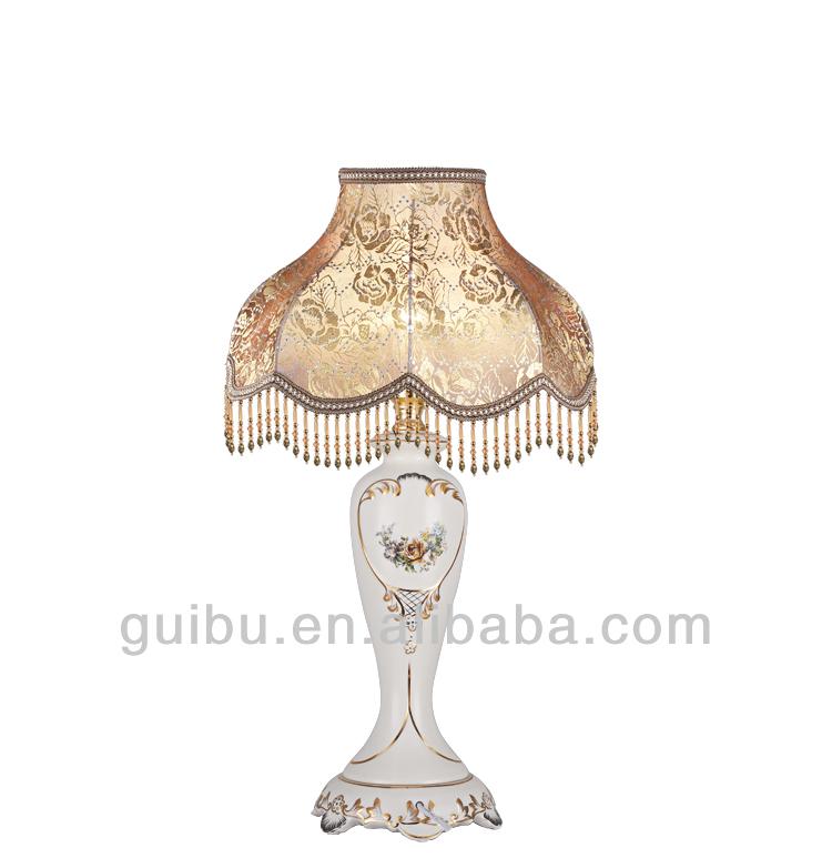 Home furniture vintage lampe de table en porcelaine - Porcelaine de table ...