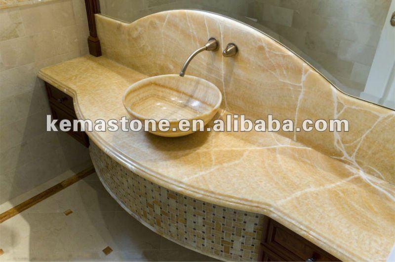 Yellow Honey Onyx Lowes Bathroom Sinks Vanities - Buy Lowes ...