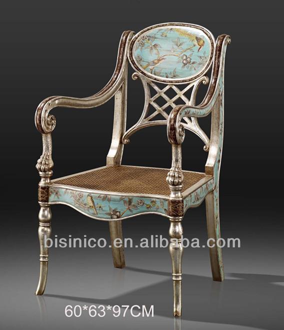 palu furniture. Antik Ukiran Kayu Palu Kursi , Indah Tangan Dicat Tunggal Furniture Dengan Bunga Emas U