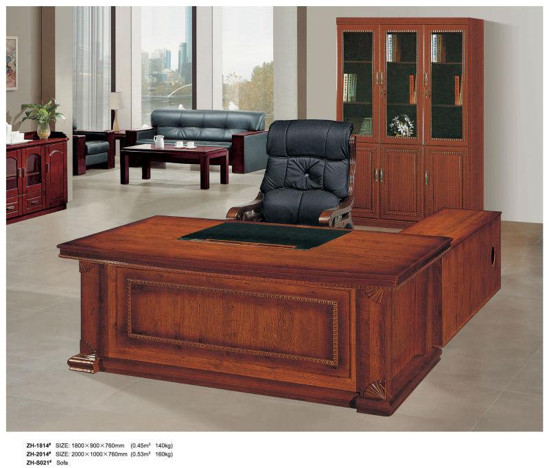 Dise o de lujo madera escritorios de oficina para la for Muebles de escritorio modernos para casa