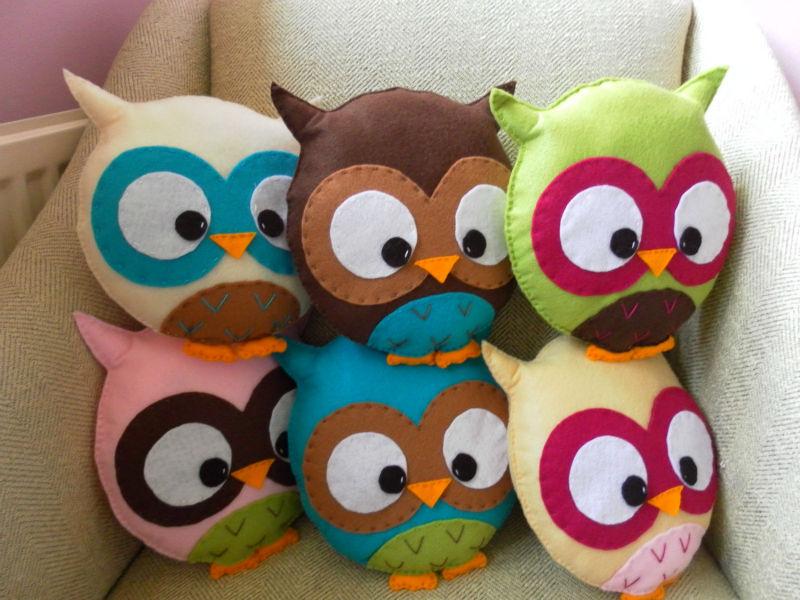 Cute Owl Plush Toys Purple Owl Stuffed Plush Toys Soft