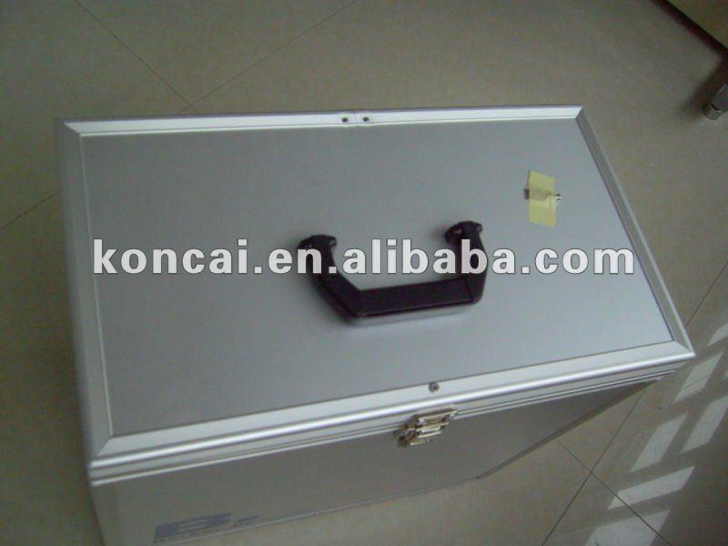 Aluminum Document Case with Stripe pattern Aluminum Panel 17