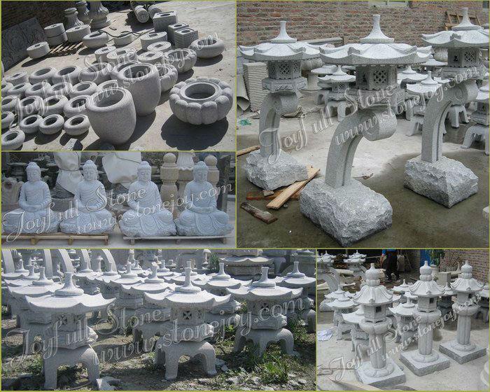 Oriental japanese garden stone pagoda granite pagoda for for Accessoire jardin japonais