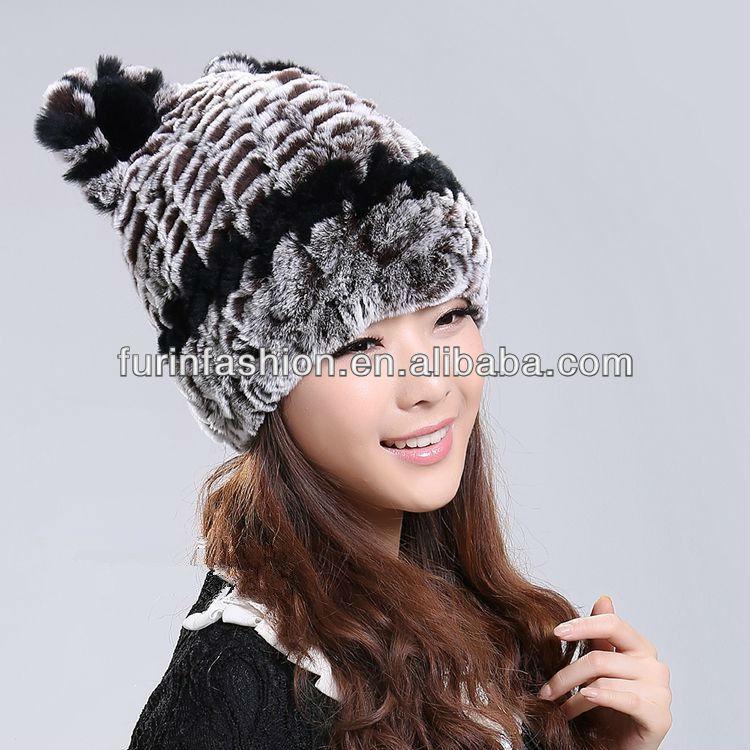 bece44b7ac1 2017 2018 New Arrive Lovely Girls Knitted Rex Rabbit Fur Hats - Buy ...