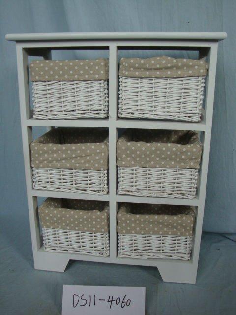 Muebles con cestos de mimbre mueble para pared para bao for Muebles con cestas