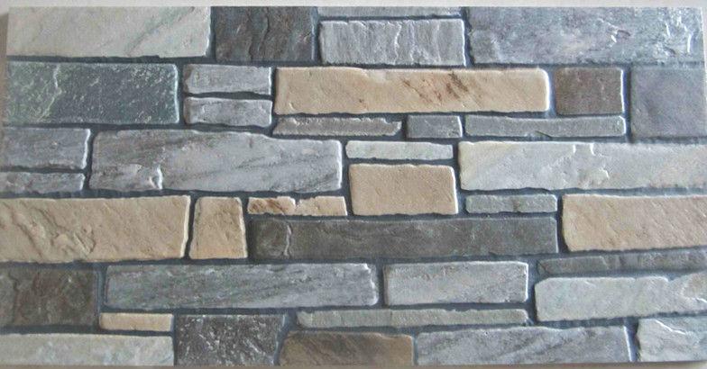 Mattonelle della parete esterna in pietra finto muro di - Piastrelle muro pietra ...