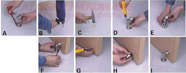furniture door stopperzinc alloy door magnetic door stops gwds