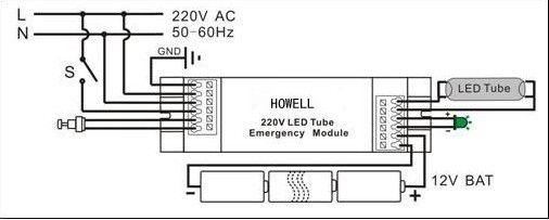 emergency lighting module wiring diagram