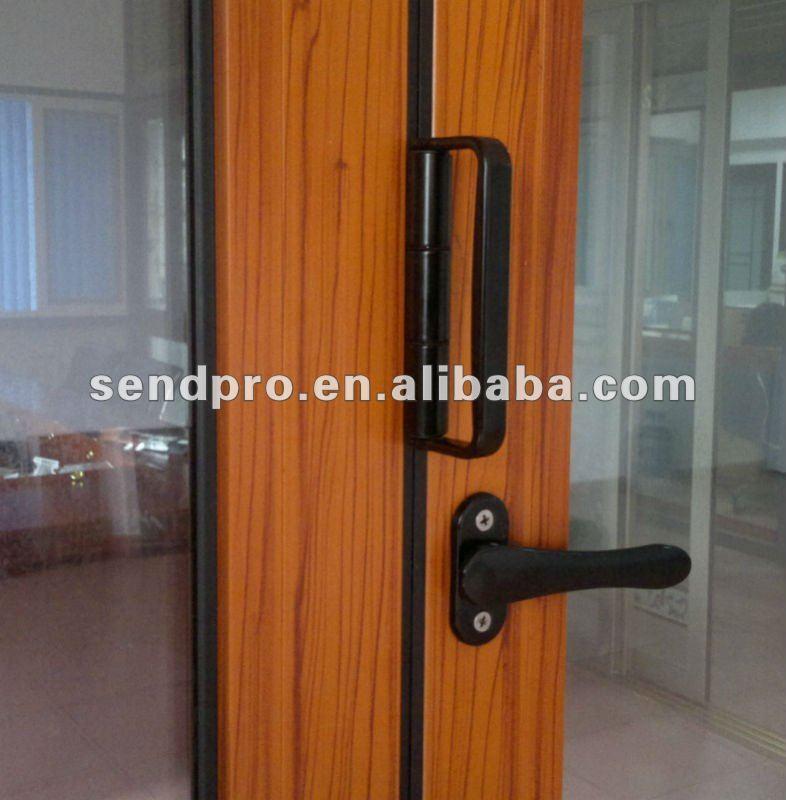 Wood Effect Aluminium Outdoor Folding Doors Prices Factory In ...