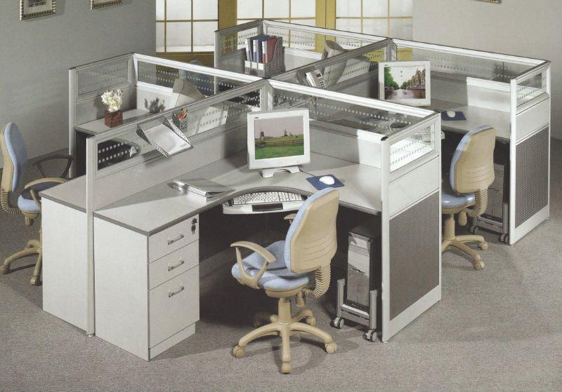 Modern Aluminum Office Cubicle For 4 (PG 320 104)