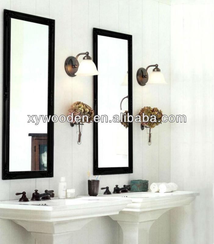 Decency fancy framed full length free standing mirror for Where to buy full length mirrors