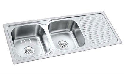 Vs4820 2 Double Bowl Kitchen Sink The Same Size Buy Kitchen Sink