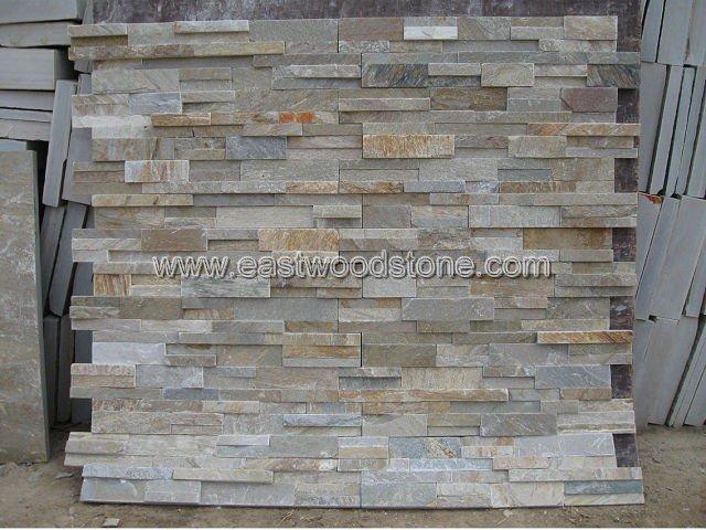 Quartz Stone Veneer : Yellow quartz ledge stone slate veneer buy