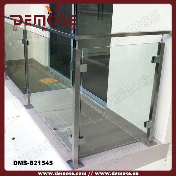 Aluminum Frame Glass/ Plexiglass Balcony Railing For Deck