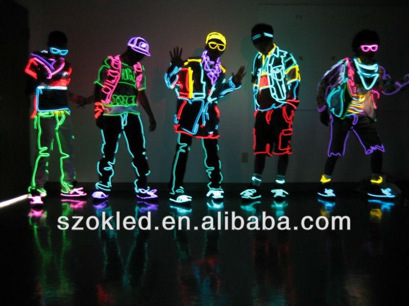 Hot Sale! Flexible Electroluminescent Tape El Wire Glowing 2.6mm ...