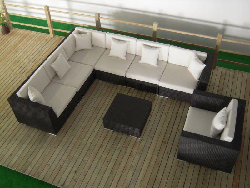 Rattan balkon takimlari  Otel Balkon Rattan Köşe Koltuk Takımı Açık Mobilya - Buy Açık Kanepe ...