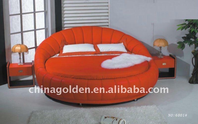 Dormitorio Muebles De Diseño Super King Size Cama Redonda Buy - Lit rond a vendre