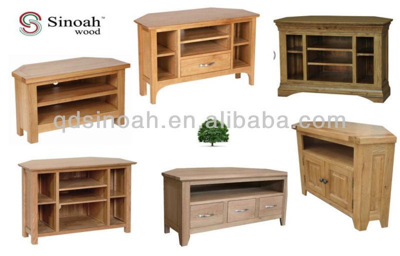 2 t r ecke tv m bel tv ger t holz tv st nder buy product. Black Bedroom Furniture Sets. Home Design Ideas