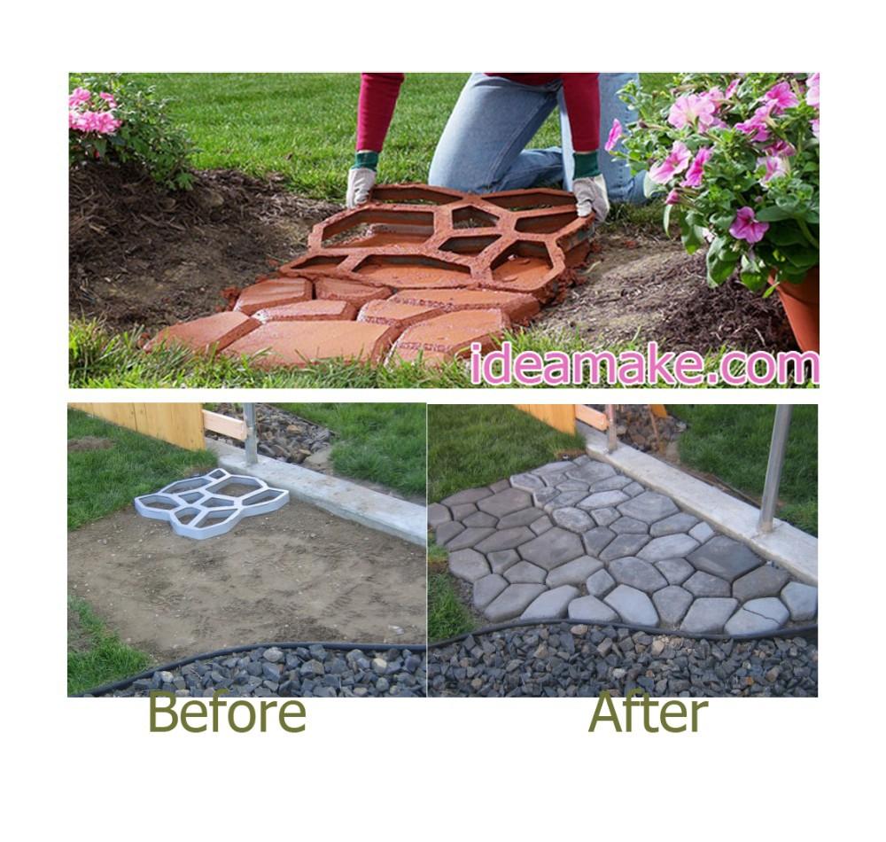 Concrete paver mold diy paving maker garden tools plastic for Walk maker ideas