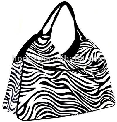 Fashion Beach Bags Canada Zebra Stripes Design Waterproof Beach ...