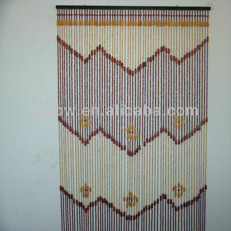 Venta caliente cortina de cuentas de madera decoraci n - Cortinas de cuentas ...