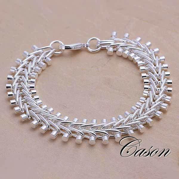 Pulseras de moda en plata