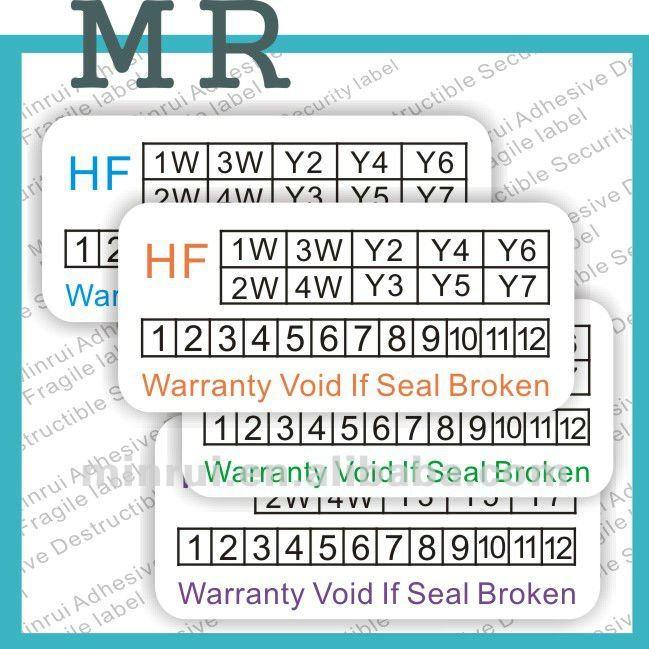 Warranty Label Stickers Date Warranty Sticker Buy Custom