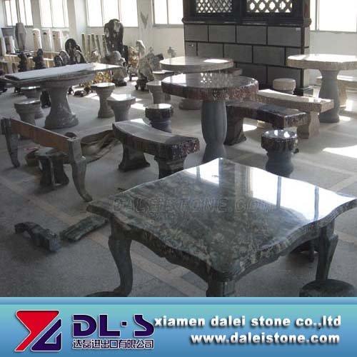 Garten stein tische und b nke steinbank und tisch for Travertin marmor tisch