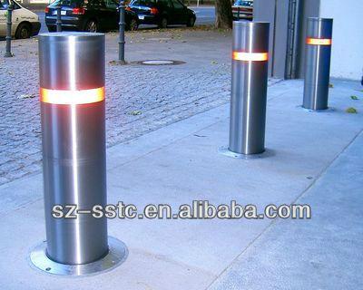 Stainless Steel Automatic Rising Bollards With Bollard Light