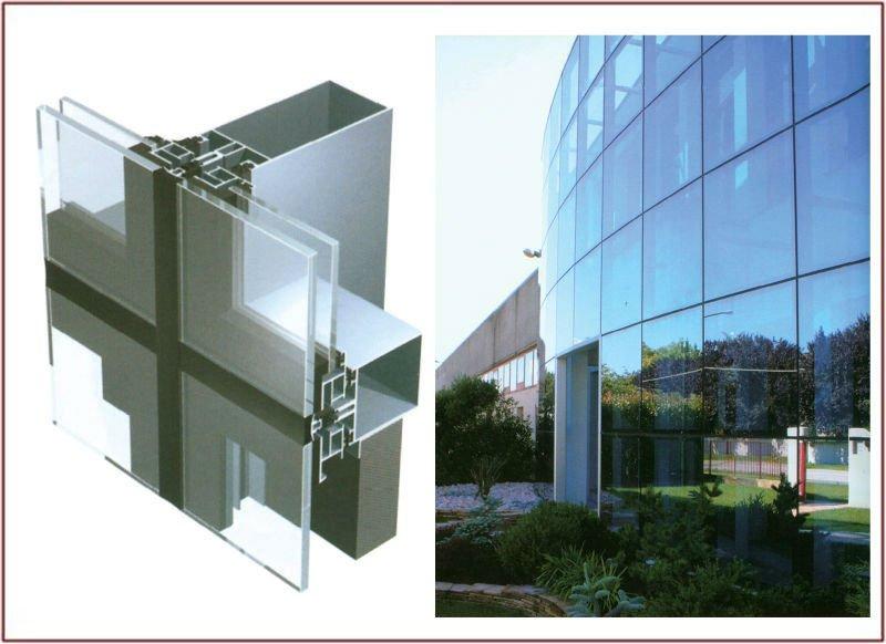 Curtain Wall Design aluminum frame point fixing wall frameless glass curtain wall