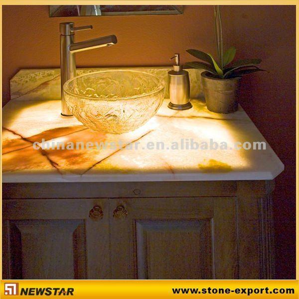 Beautiful Honey Onyx Kitchen Countertop With Countertops