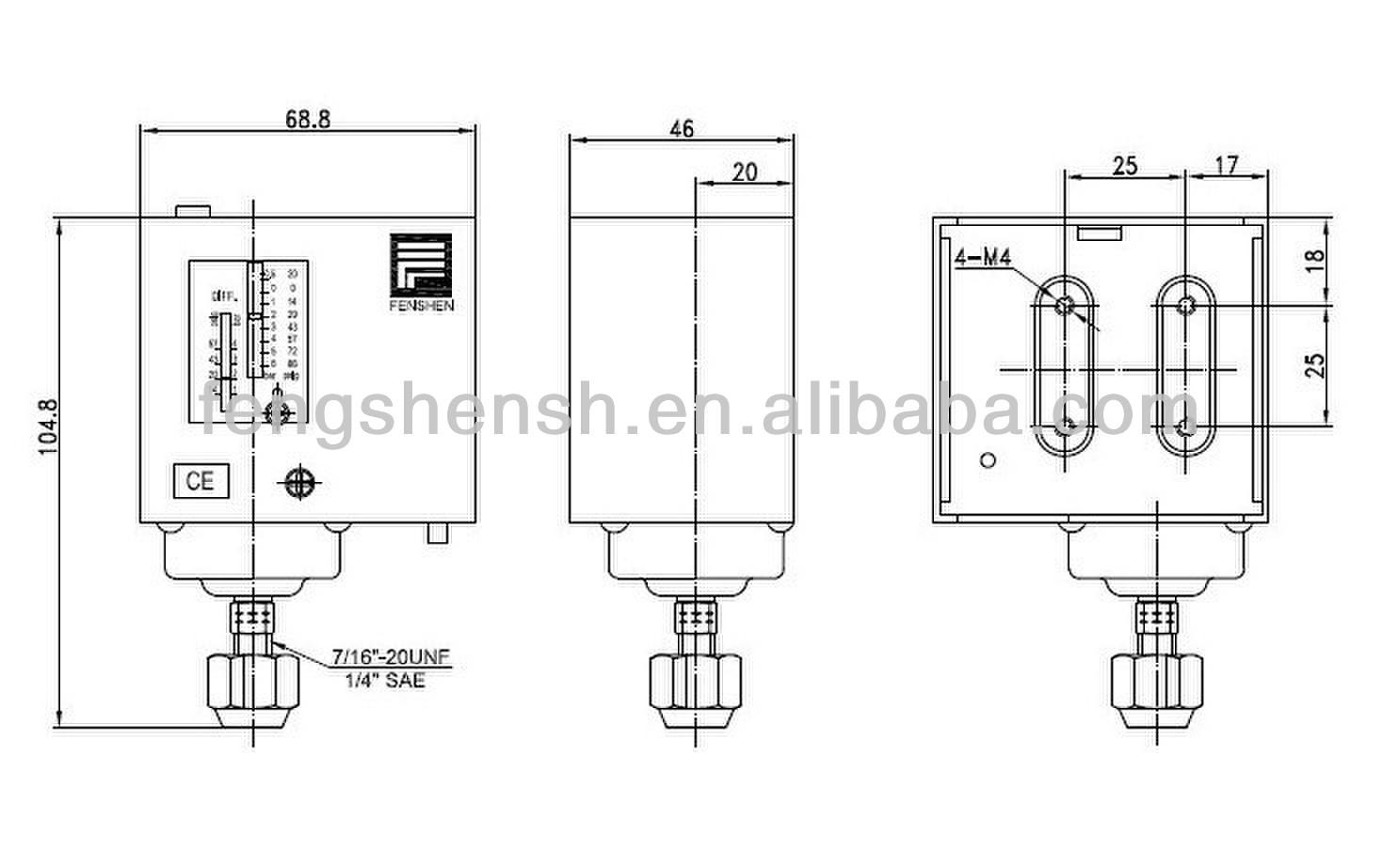 saginomiya oil pressure switch wiring diagram