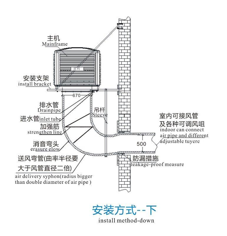 industrial use evaporative air air water air conditioner - Evaporative Air Cooler