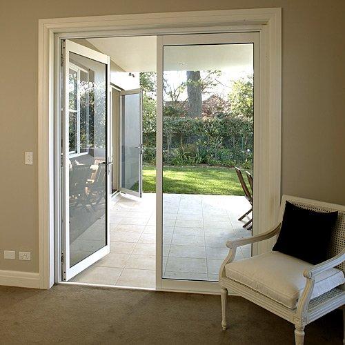 Double Panels Aluminum Entry Storm Door Insulation Glass