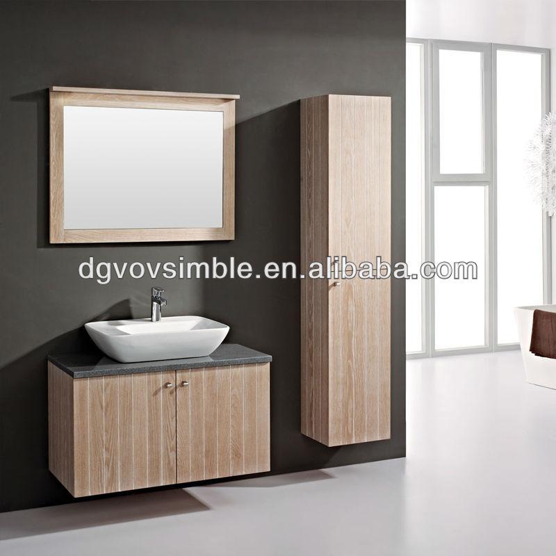 fcil instalar slido mueble de bao de madera con natural encimera pedestal de madera maciza