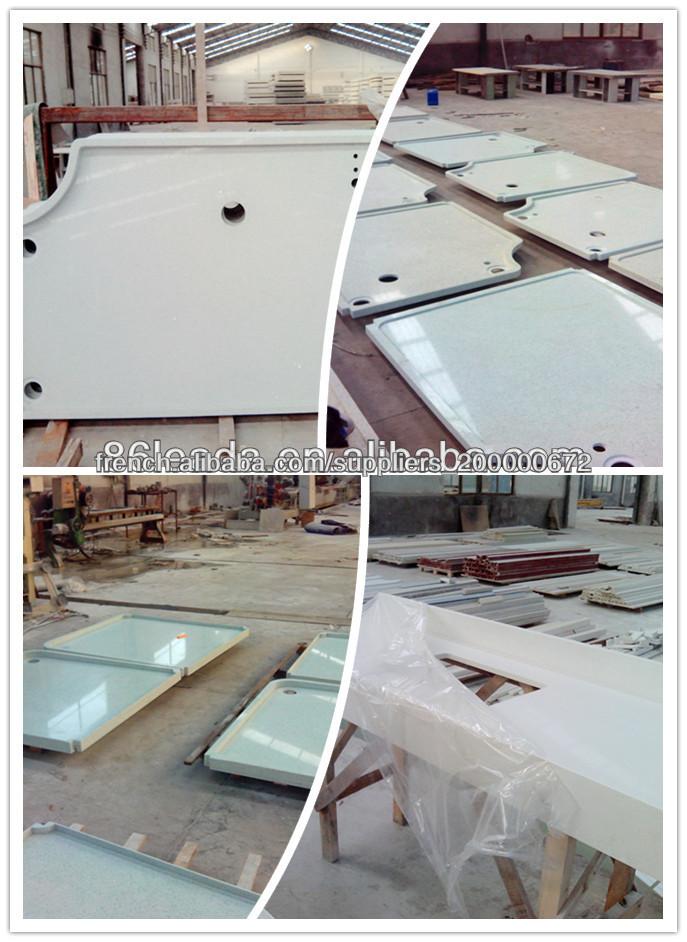 White Quartz Prefab Island Kitchen Countertops Buy