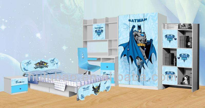 hot verkauf spiderman batman kinderm bel kinder schlafzimmer m bel sets billige buy. Black Bedroom Furniture Sets. Home Design Ideas