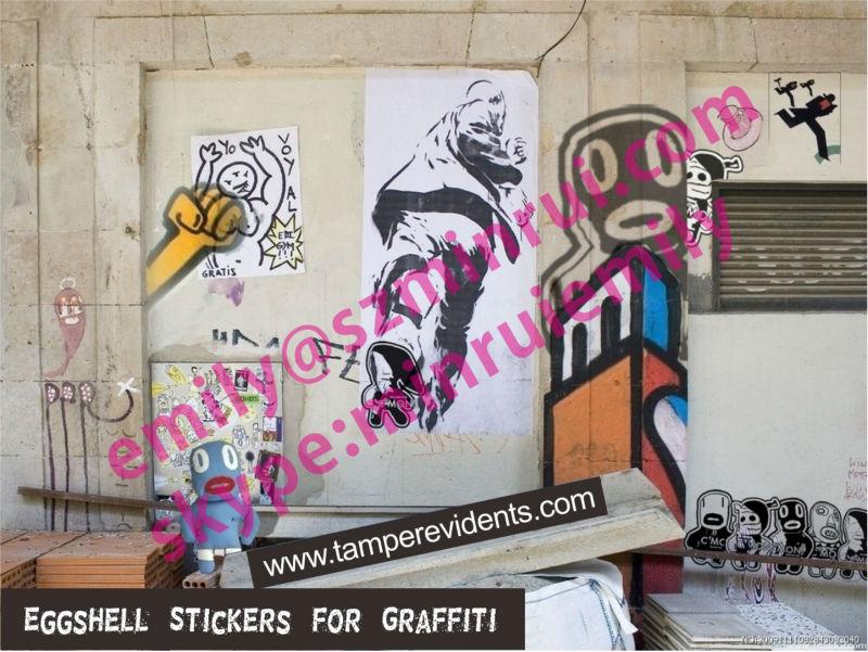 Custom Xcm Breakable Egg Shell Stickers For Graffiti Lover - Graffiti custom vinyl stickers